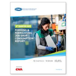 Forming & Fabricating Job Shop Consumption Report 4th Qtr 2018